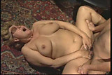 Chubby granny slut filled with dick meat