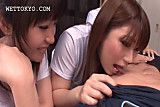 Teen asian beauties learning to orally please dick