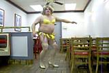 White Sissy Faggot kevin Banana Dance