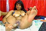 Sexy Colombian Masturbates