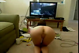 Babe Plays  XBOX Naked