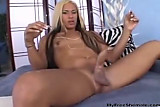 Beautiful Shemale Jerks Her Huge Cock For You