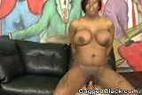 Black Ghetto Slut With Giant Jugs Getting Fucked