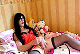 Tranny Supersatin Jerks out a big load