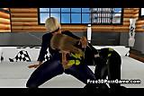 Sexy 3D cartoon superhero hottie getting fucked