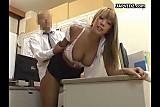 Mosaic; boss fucks girl on office table