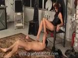 Whipping Caning and Strapon fucking